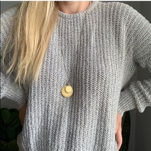 Brandy Melville oversized sweater OS gray